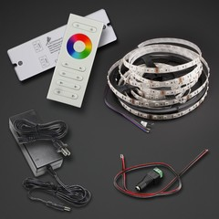 Double Bright RGB LED Strip 16 feet Kit with Remote